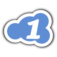 cloud logo icon 1 blue