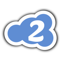 cloud logo icon 2 blue